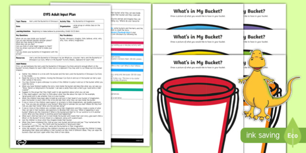 EYFS My Bucketful of Imagination Adult Input Plan and Resource Pack