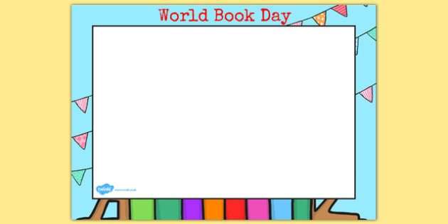 World Book Day Landscape Page Borders - page borders, book, day