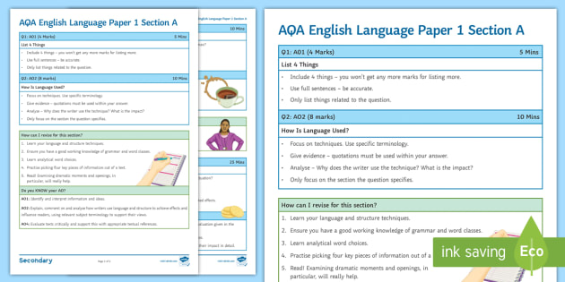 aqa gcse english english language paper 1 A walk-through language paper 1 with lots of guidance and model answers  ideal for a booster or revision session original text.