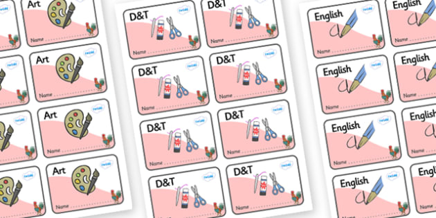 Rooster Themed Editable Book Labels - Themed Book label, label, subject labels, exercise book, workbook labels, textbook labels