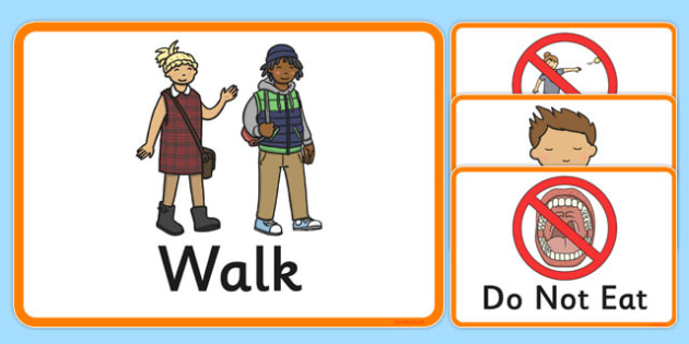 Behaviour Cards - behaviour, cards, sen, behave, rules, act, class