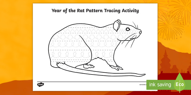 Year Of The Rat Pattern Tracing Activity Teacher Made