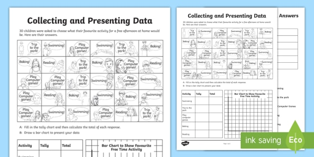Favourite Sport Data Collection Year 5 Worksheet - tally chart