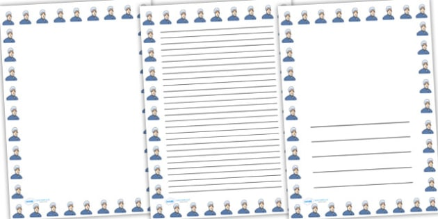 Elizabeth Fry Page Borders - elizabeth fry, page borders, borders, themed page borders, writing frames, writing templates, writing aid, line guides, guides