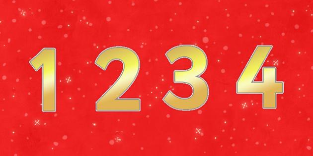 Christmas Display Numbers - christmas, display numbers, display, numbers