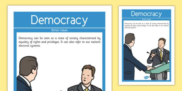 Democracy British Values Display Poster - british values, display poster, display, poster, democracy