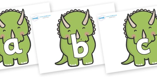 Phoneme Set on Triceratops Dinosaurs - Phoneme set, phonemes, phoneme, Letters and Sounds, DfES, display, Phase 1, Phase 2, Phase 3, Phase 5, Foundation, Literacy
