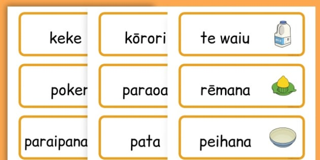 Pancake Day Recipe Word Cards - australia, pancake, day, cards - Maori