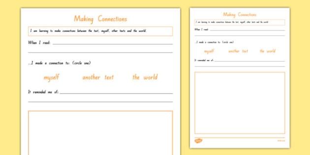 Making Connections Worksheet Activity Sheet Worksheet
