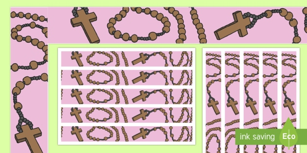 Rosary Display Borders - RE Religion Requests, re, rs, catholic, prayer, display, christian, cross, beads