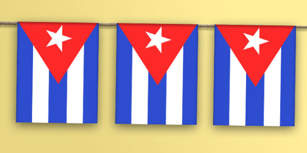Cuba Flag Bunting - world, display, country, countries, flags, map
