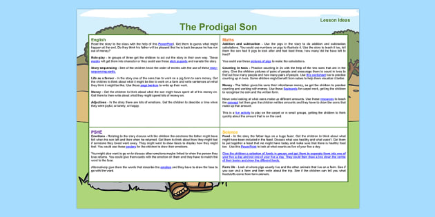the prodigal son moral lesson