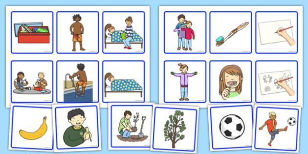 2 Step Sequencing Cards - 2 step, sequencing, cards, sequencing cards, 2, step