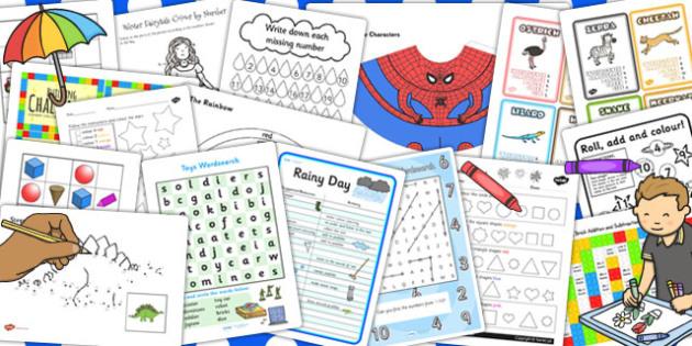 Parents Rainy Day Activity Pack - rainy, day, activity, pack