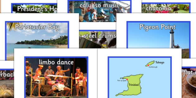 Trinidad and Tobago Poster and Photo Pack - trinidad, tobago, poster, photo pack, display