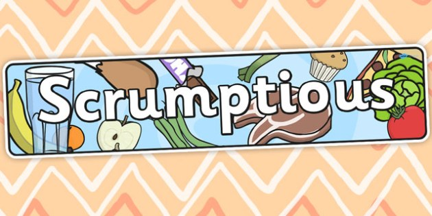 Scrumptious Themed Banner - food, header, display