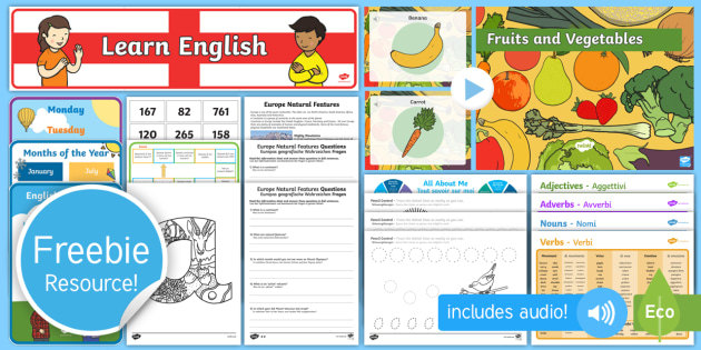 Free English, French, German and Italian Taster Resource Pack