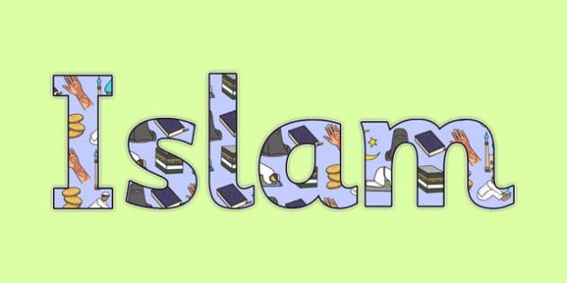 Islam Display Lettering-islam, display, lettering, display lettering, religion lettering, islam lettering, islam letters, islam display, RE
