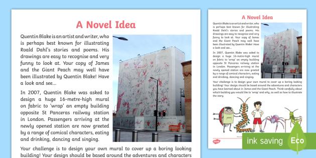 Quentin Blake Roald Dahl Inspired Art Activity - artists, stories