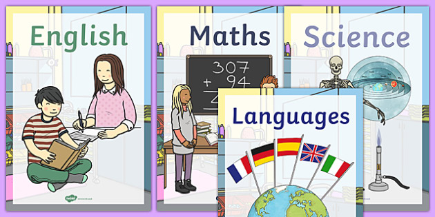 Subject Book Covers School Classroom Signs - classroom, signs