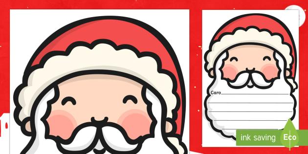 Letterina a Babbo Natale modello - letterina a Babbo Natale, letterina,. natale, natalizio, scrivere