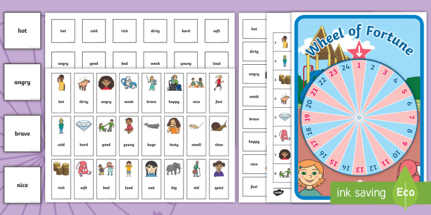 Synonym And Antonym Wheel Of Fortune Spinning Wheel Activity Pack Further results for the word lucky. fortune spinning wheel activity pack