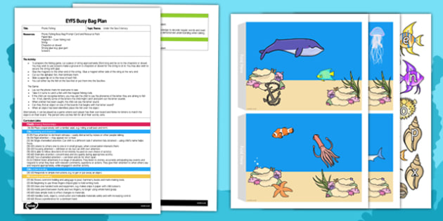 EYFS Phonic Fishing Busy Bag Plan and Resource Pack