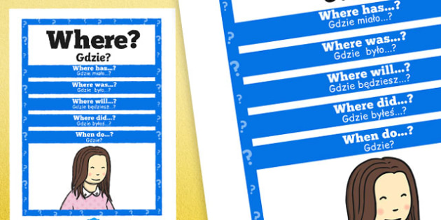 Where Question Poster Polish Translation - posters, displays, display, questions