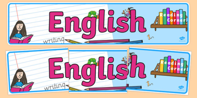 EYFS English Display Banner - literacy, writing, reading, display, classroom, early years