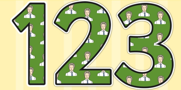 Edith Cavell Themed Display Numbers - edith cavell, display numbers, themed number, classroom number, numbers for display, numbers, numbers for display