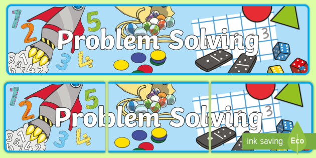 Problem Solving Display Banner - Numeracy Display Sign, Maths