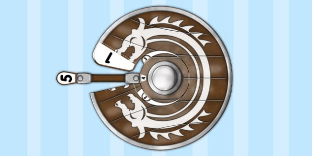 Viking Shield Paper Model - paper, model, viking, shield, craft