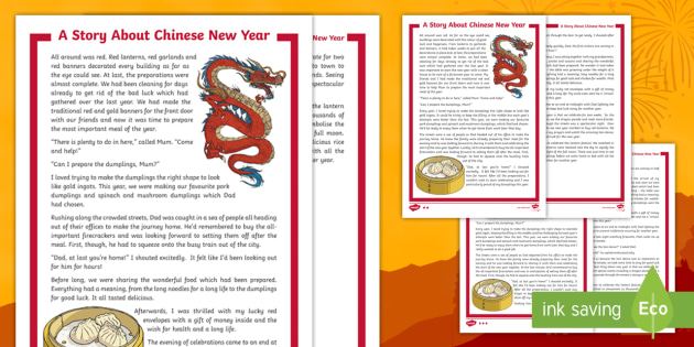 KS2 A Story About Chinese New Year Differentiated Reading ...