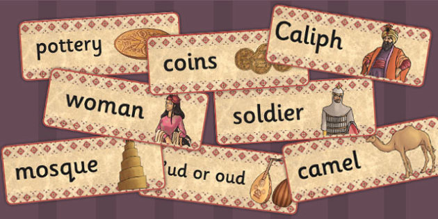 Early Islamic Civilization Word Cards - history, KS2, visual aids