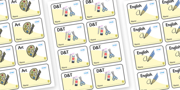 Daffodil Themed Editable Book Labels - Themed Book label, label, subject labels, exercise book, workbook labels, textbook labels