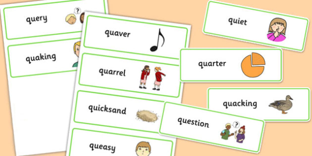 Premise Indicator Words: Two Syllable QU Word Cards