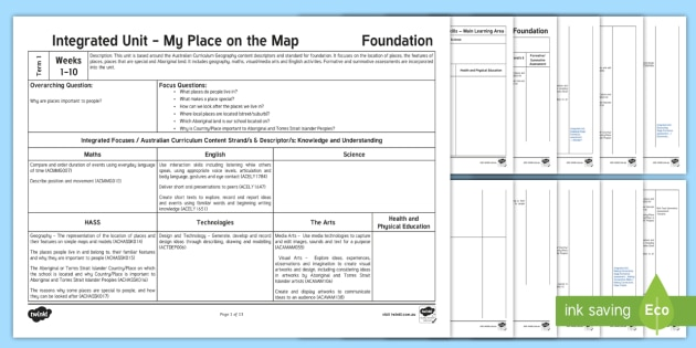 Unit Plan Template | New My Place On The Map Integrated Unit Plan Template Inquiry Unit