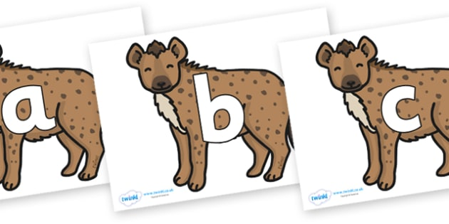 Phoneme Set on Hyenas - Phoneme set, phonemes, phoneme, Letters and Sounds, DfES, display, Phase 1, Phase 2, Phase 3, Phase 5, Foundation, Literacy