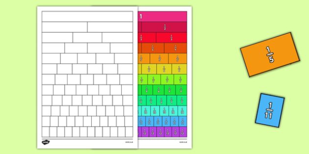 Fractions Wall Cut and Stick Worksheet / Worksheet ...