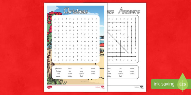New Zealand Christmas Word Search