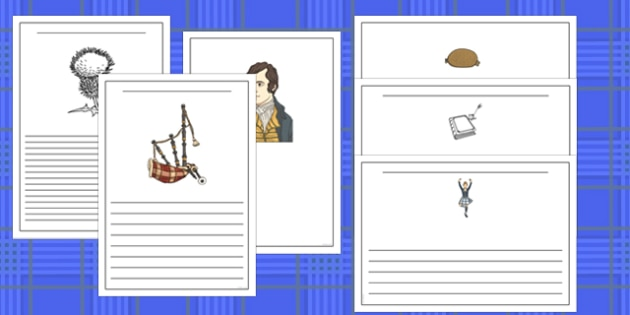 Burns Night Writing Frames - burns night, writing frames, write