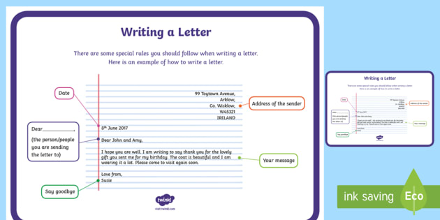 Teacher resources how to write a letter