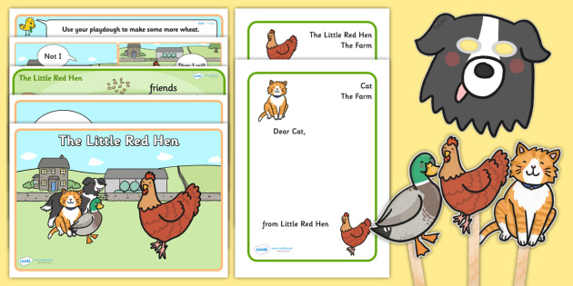photo relating to The Little Red Hen Story Printable named The Minimal Crimson Chook Tale Sack - tale sack, tale publications