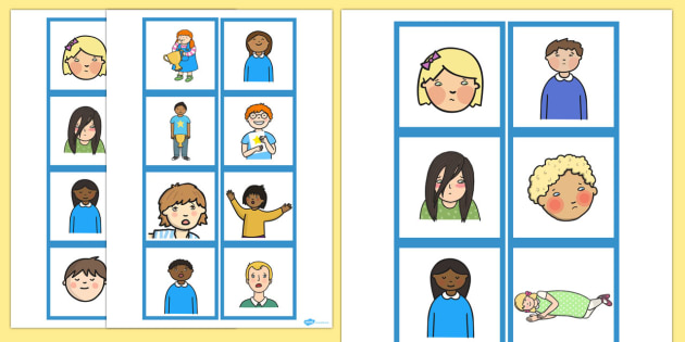 Emotions Matching Cards Set 2 Pictures Only - emotions, pictures
