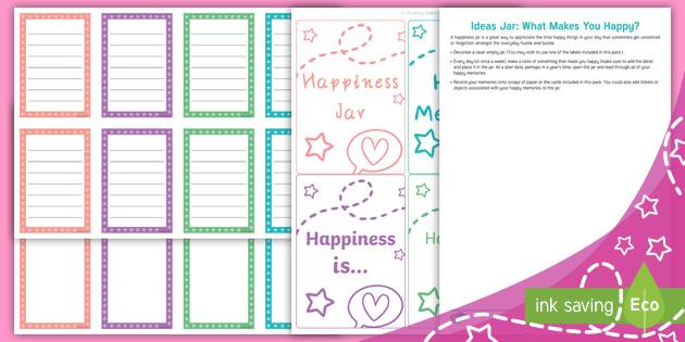 Ideas Jar What Makes You Happy Teacher Made