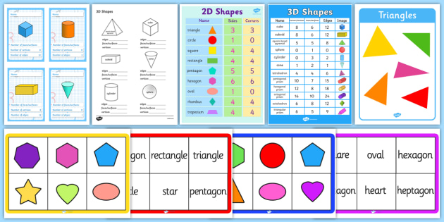 FREE! - 2D and 3D Shapes - maths, numeracy, ks1, shapes 2d