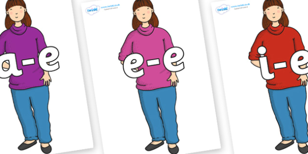 Modifying E Letters on Harry's Mum to Support Teaching on Harry and the Bucketful of Dinosaurs - Modifying E, letters, modify, Phase 5, Phase five, alternative spellings for phonemes, DfES letters and Sounds
