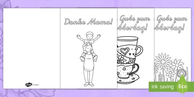 Muttertag Grusskarten Ausmalbilder Karten Geschenk Blumen Pralinen