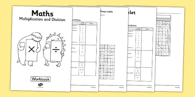 Year 3 Multiplication and Division Workbook - workbook, activity pack, worksheets, independent, home learning