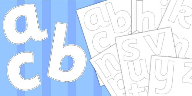 Paper Saving Blank Display Lettering - display